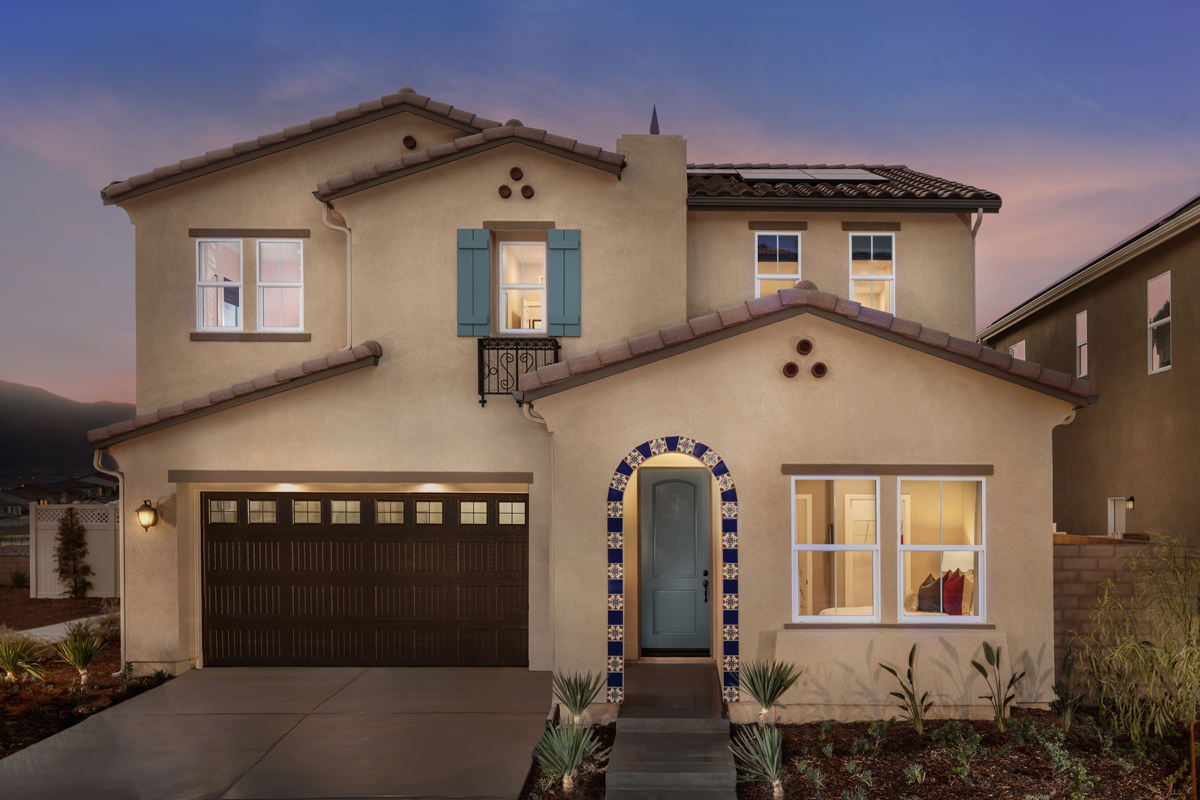 residence two modeled new home floor plan in caraway at terramor rh kbhome com