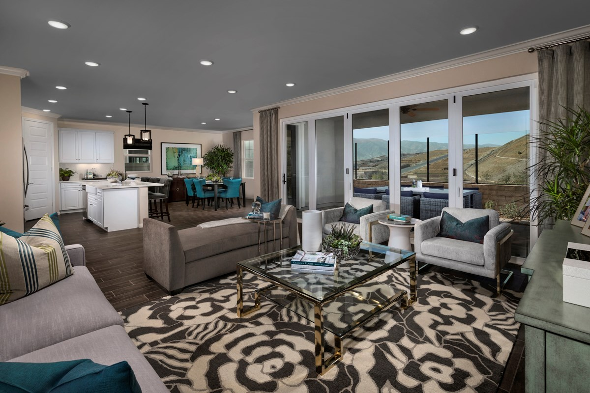New Homes in Temescal Valley, CA - Caraway at Terramor Residence Four - Great Room