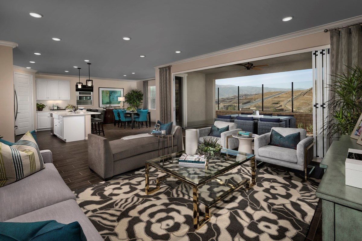 New Homes in Corona, CA - Caraway at Terramor Residence Four - Great Room
