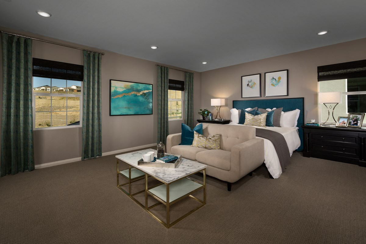 New Homes in Temescal Valley, CA - Caraway at Terramor Residence Four - Master Bedroom
