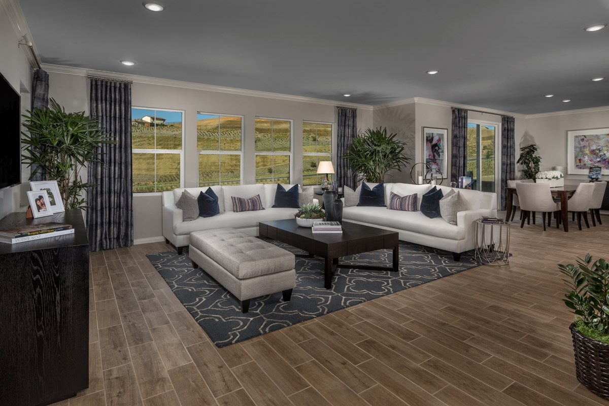 New Homes in Temescal Valley, CA - Caraway at Terramor Residence Six - Great Room