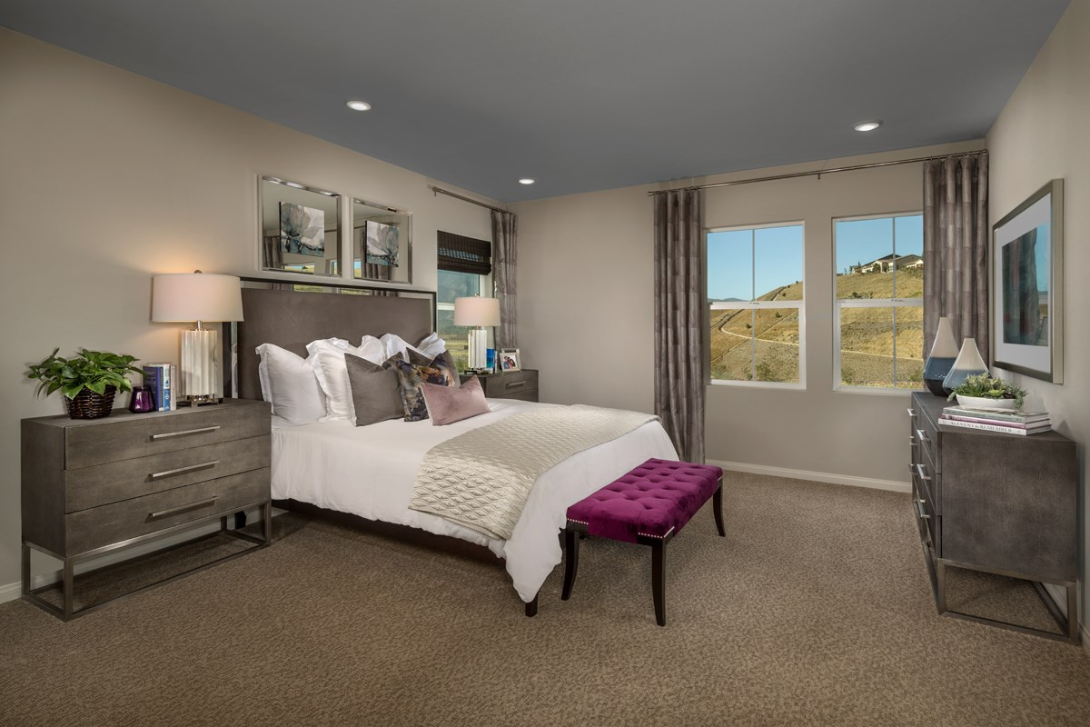 New Homes in Temescal Valley, CA - Caraway at Terramor Residence Six - Master Bedroom