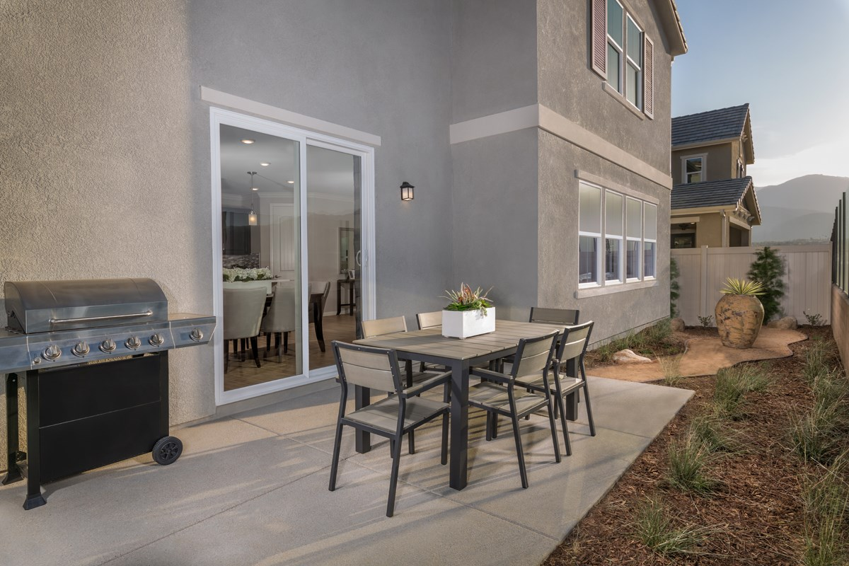 New Homes in Temescal Valley, CA - Caraway at Terramor Residence Six - Patio