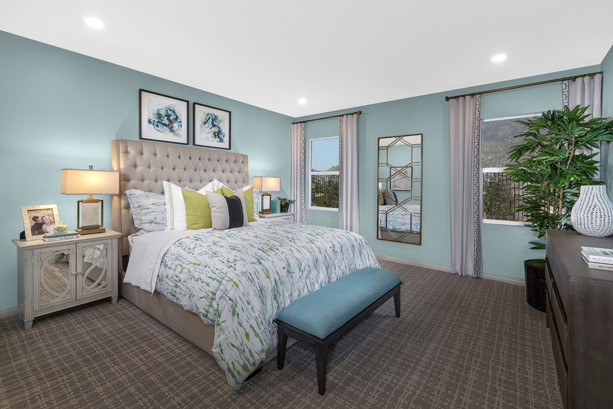 New Homes in Riverside, CA - Carmel Ridge at Spring Mountain Ranch Residence 2206 - Master Bedroom