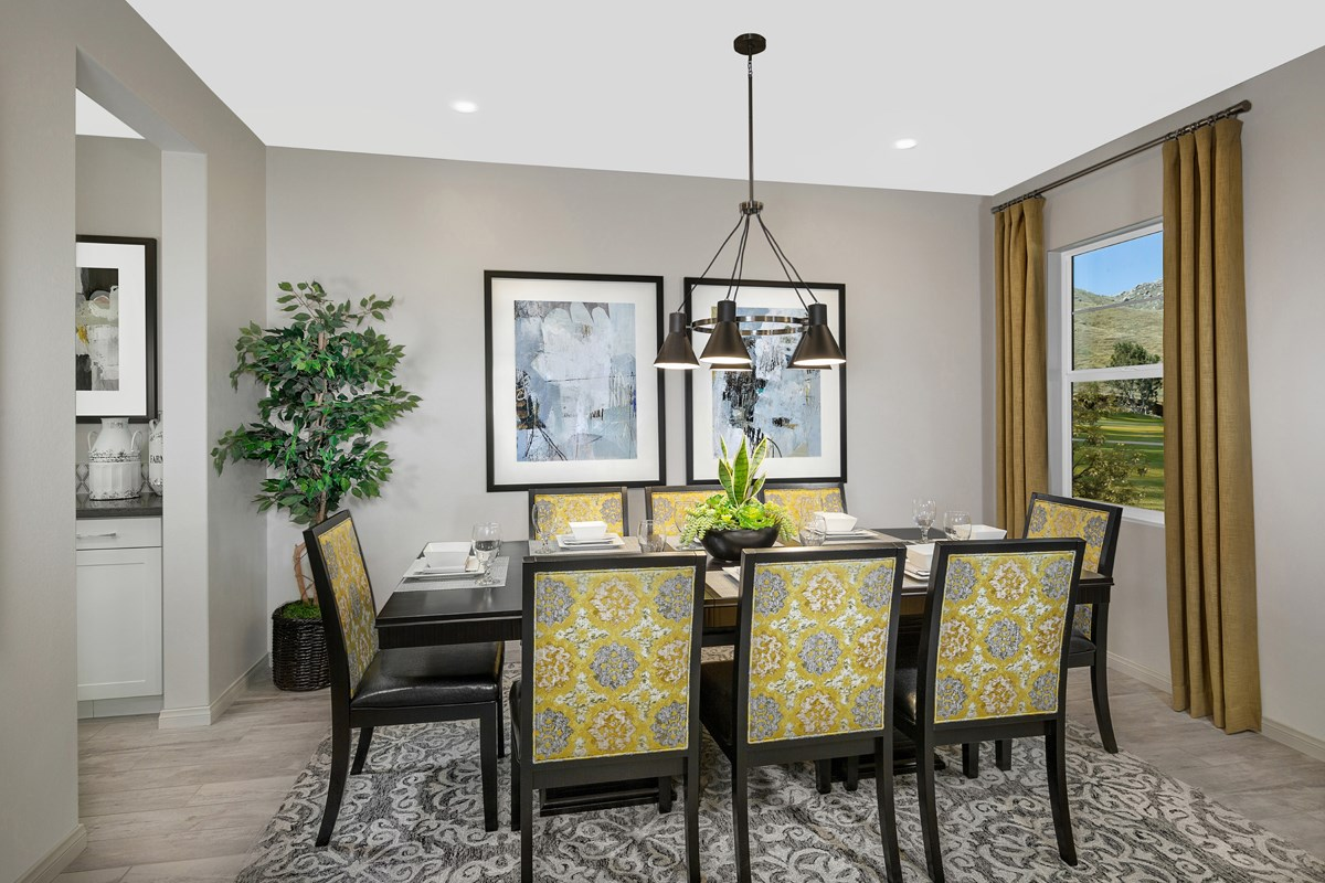 New Homes in Riverside, CA - Carmel Ridge at Spring Mountain Ranch Residence 3228 - Dining Room