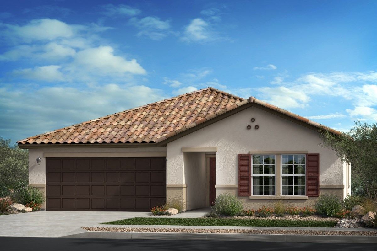 New Homes in Beaumont, CA - Cherry Blossom at The Fairways Residence 1557 - Spanish Colonial