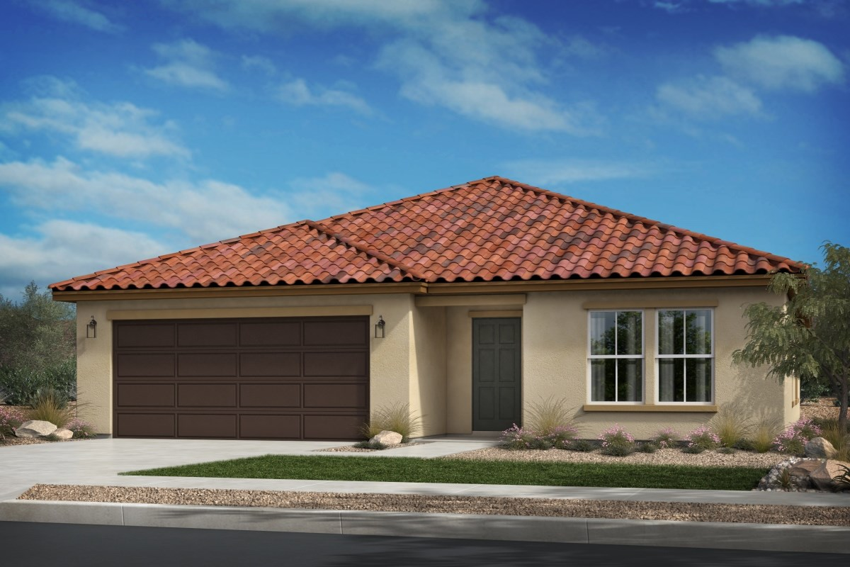 New Homes in Beaumont, CA - Cherry Blossom at The Fairways Residence 1718 - Early California