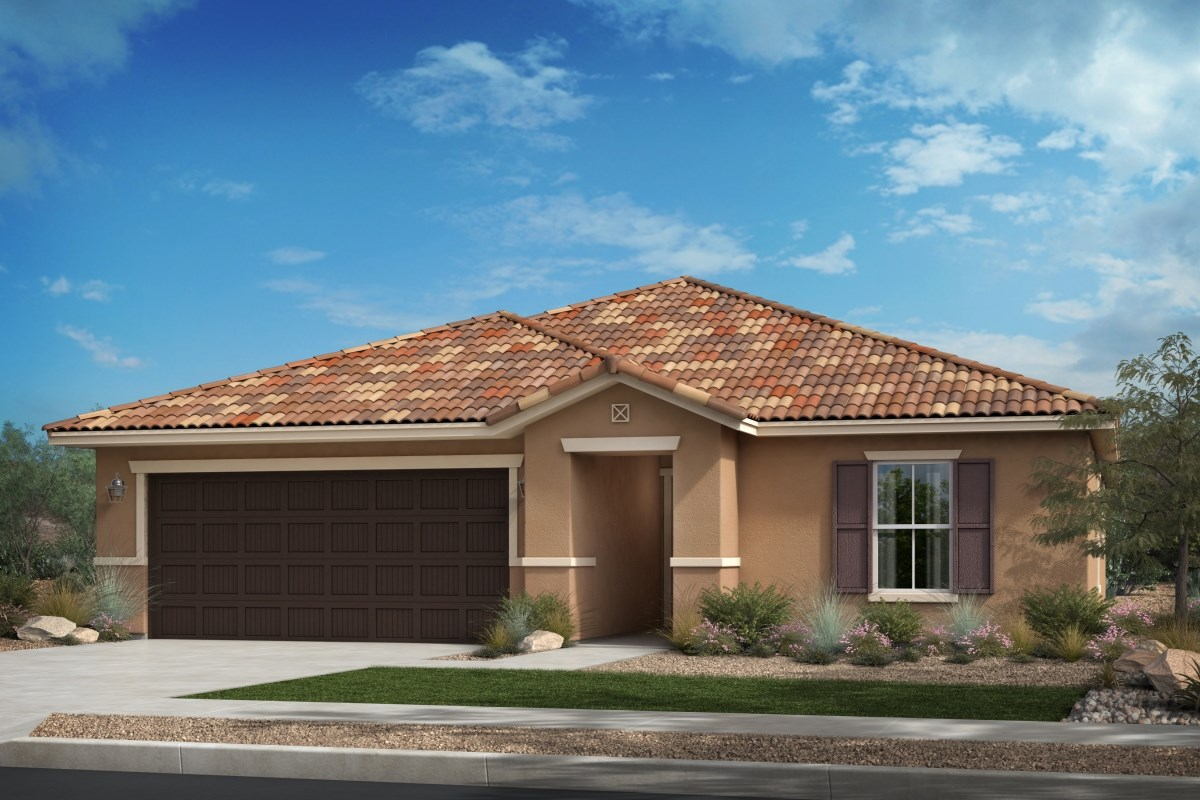 New Homes in Beaumont, CA - Cherry Blossom at The Fairways Residence 1811 - Tuscan