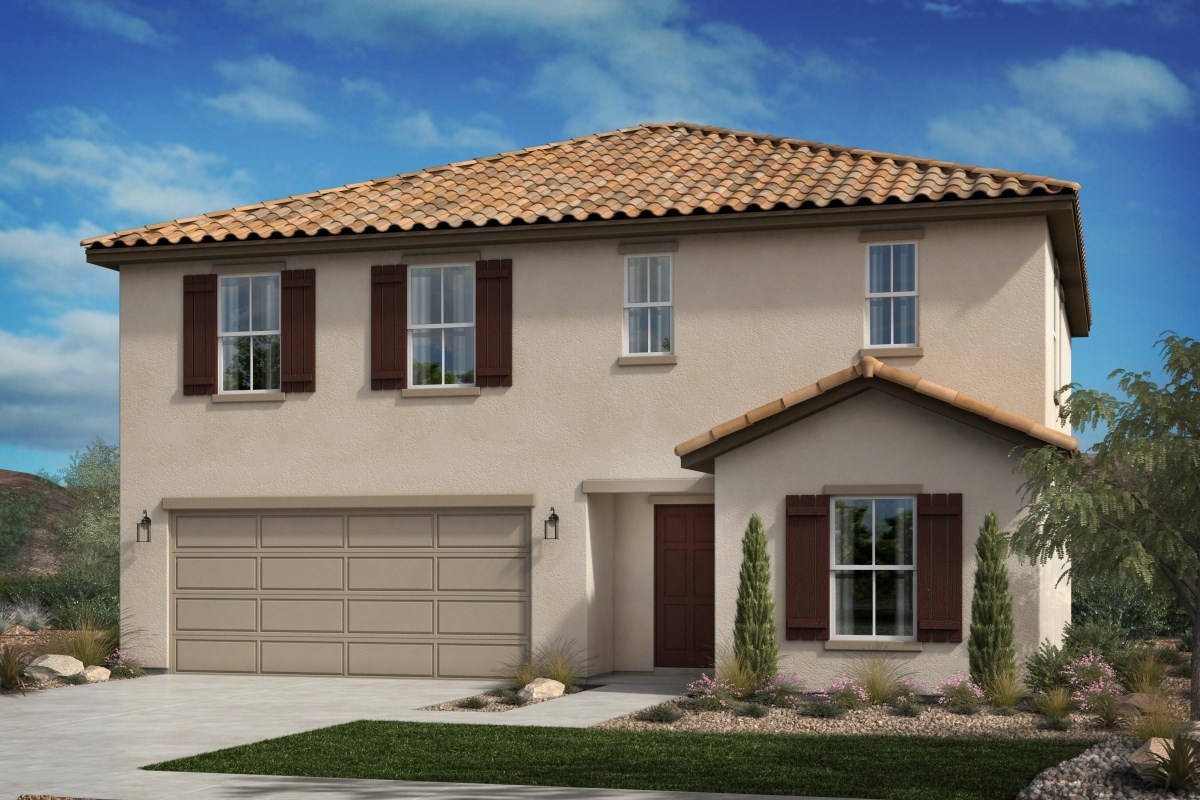 New Homes in Beaumont, CA - Cherry Blossom at The Fairways Residence 2278 - Early California