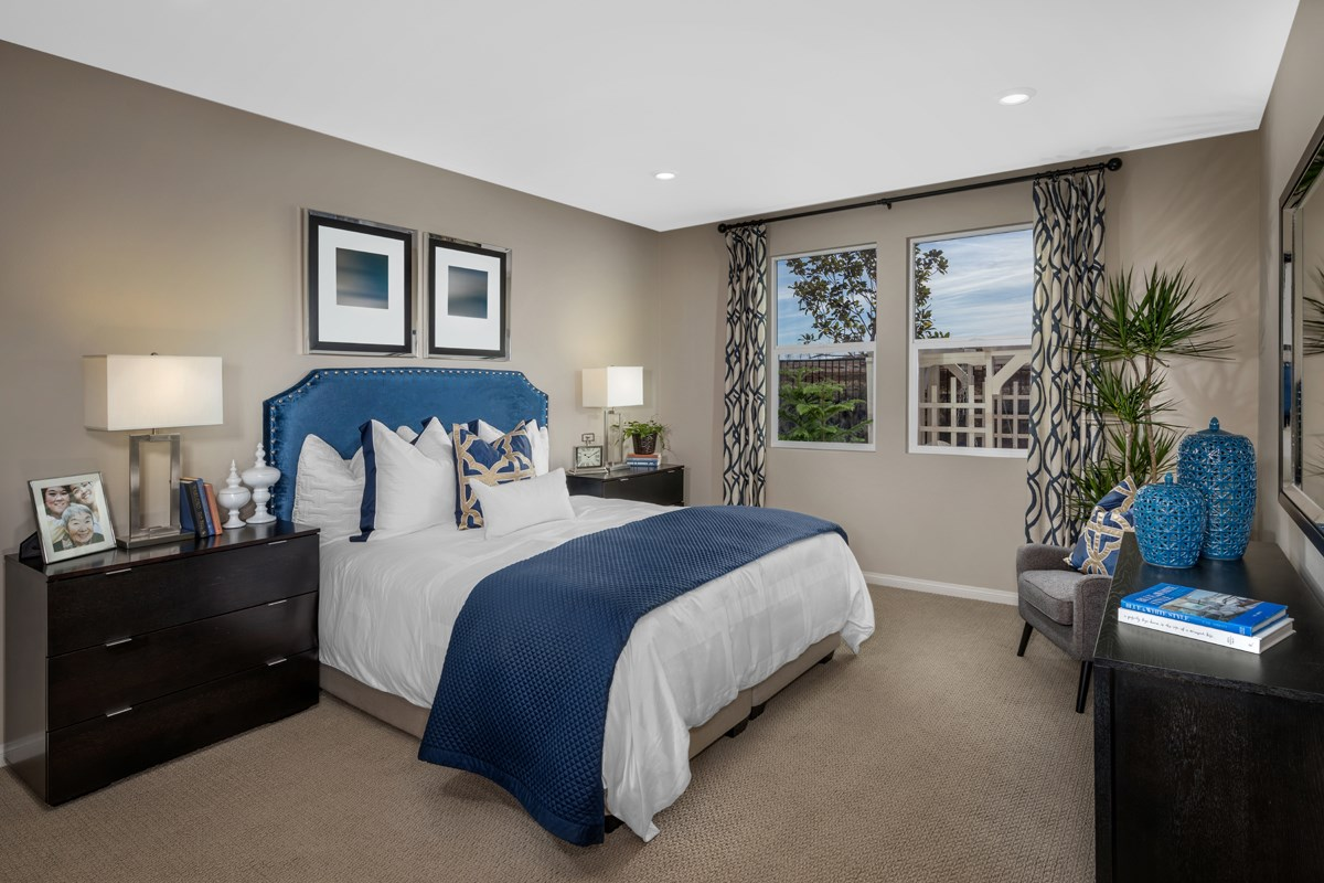 New Homes in Beaumont, CA - Cherry Blossom at The Fairways Residence 1718 - Master Bedroom