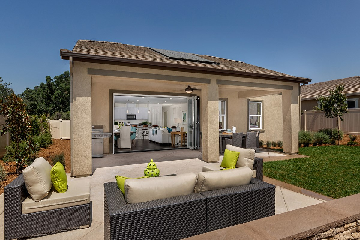 New Homes in Loma Linda, CA - Citrus Glen Residence 1751 - Patio (Door Open)