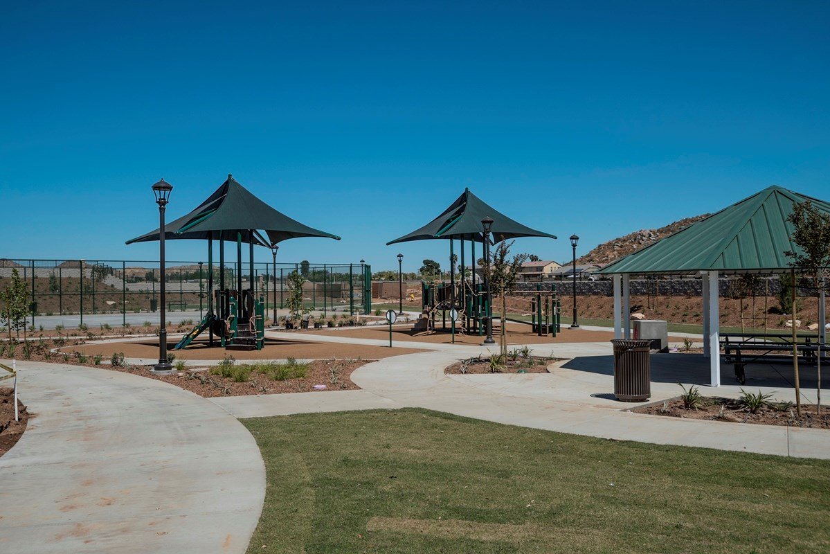 New Homes in Menifee, CA - Cypress at Hidden Hills Hidden Hills Park Playground and Picnic Area