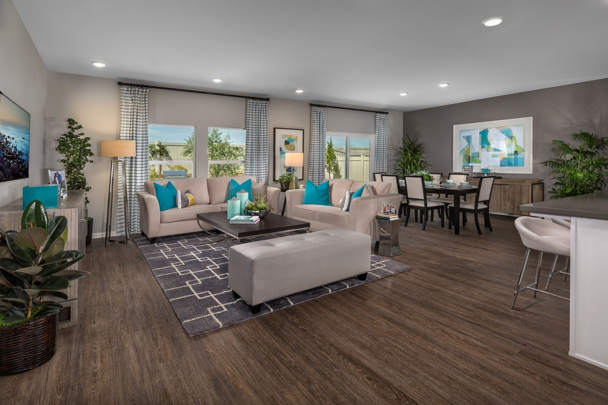 New Homes in Menifee, CA - Cypress at Hidden Hills Residence 1860 - Great Room