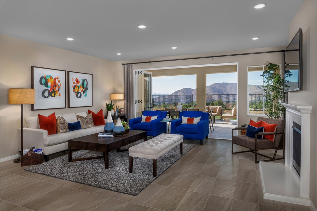 KB model home Great Room in Moreno Valley, CA