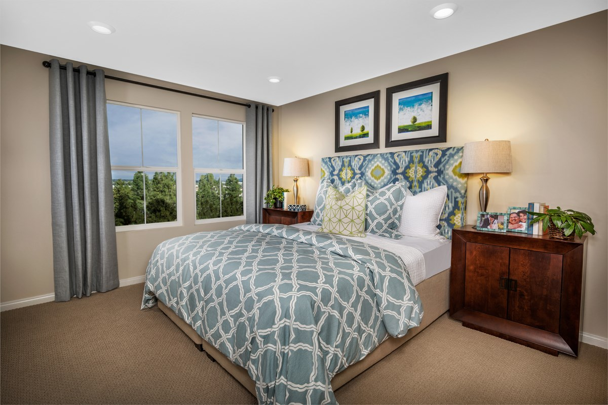 New Homes in Chino Hills, CA - Jade Tree Unit Two - Master Bedroom