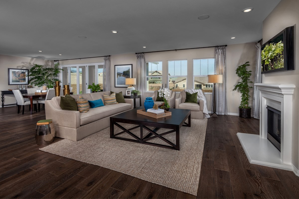 New Homes in Rancho Cucamonga, CA - La Ventana Residence 3115 - Great Room