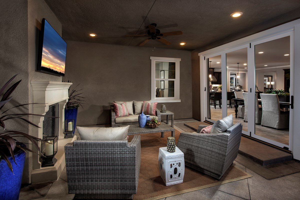 New Homes in Rancho Cucamonga, CA - La Ventana Residence 3620 - Patio doors closed