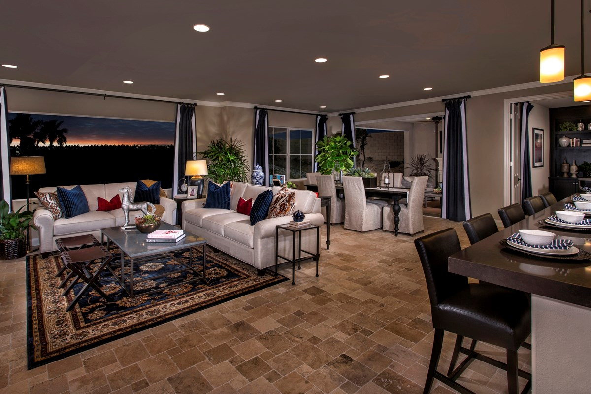 New Homes in Rancho Cucamonga, CA - La Ventana Residence 3620 - Great Room