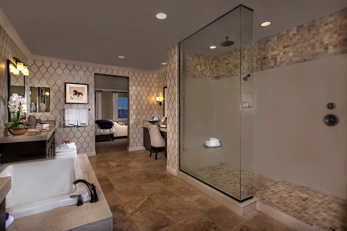New Homes in Rancho Cucamonga, CA - La Ventana Residence 3620 - Master Bathroom
