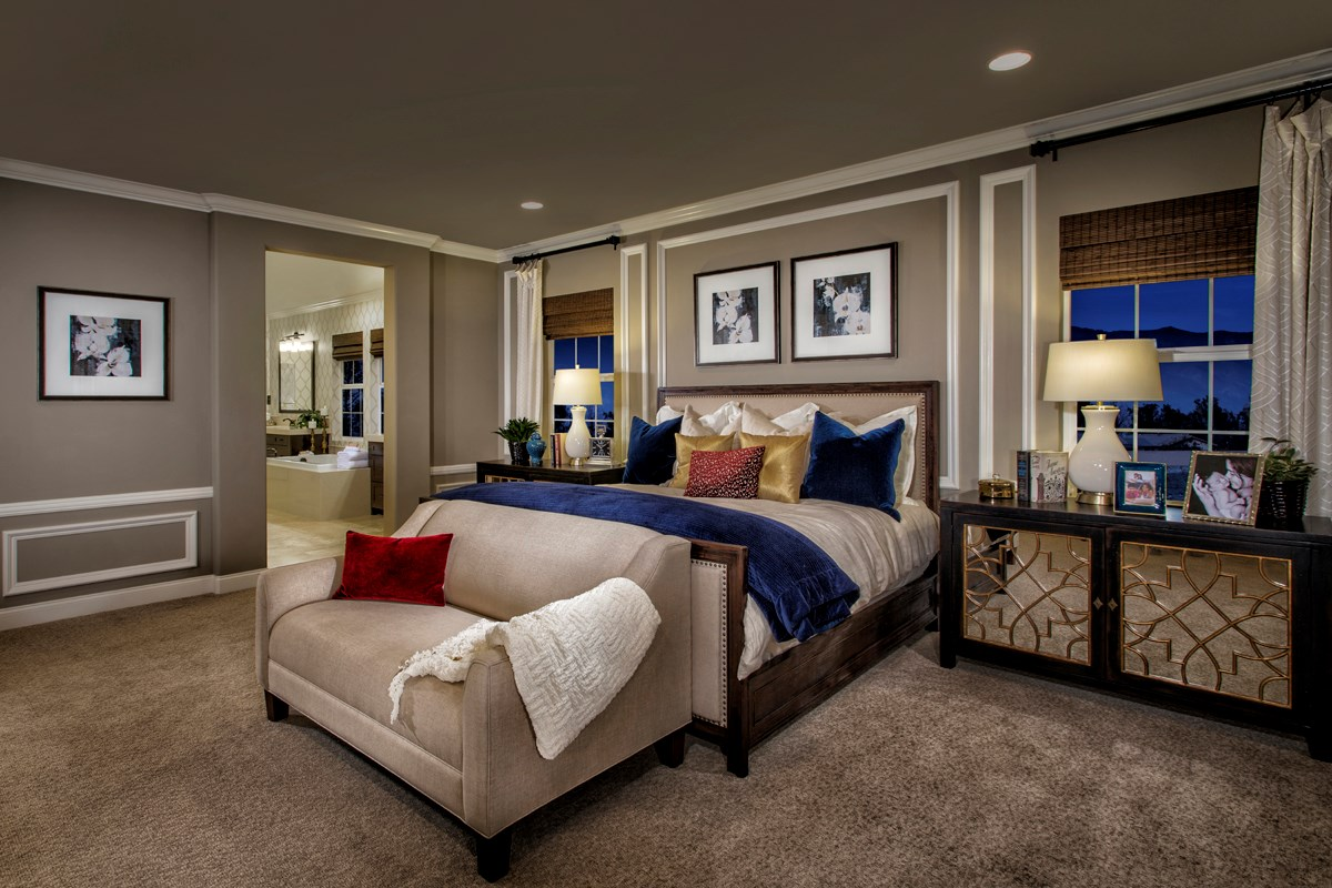 New Homes in Rancho Cucamonga, CA - La Ventana Residence 3620 - Master Bedroom
