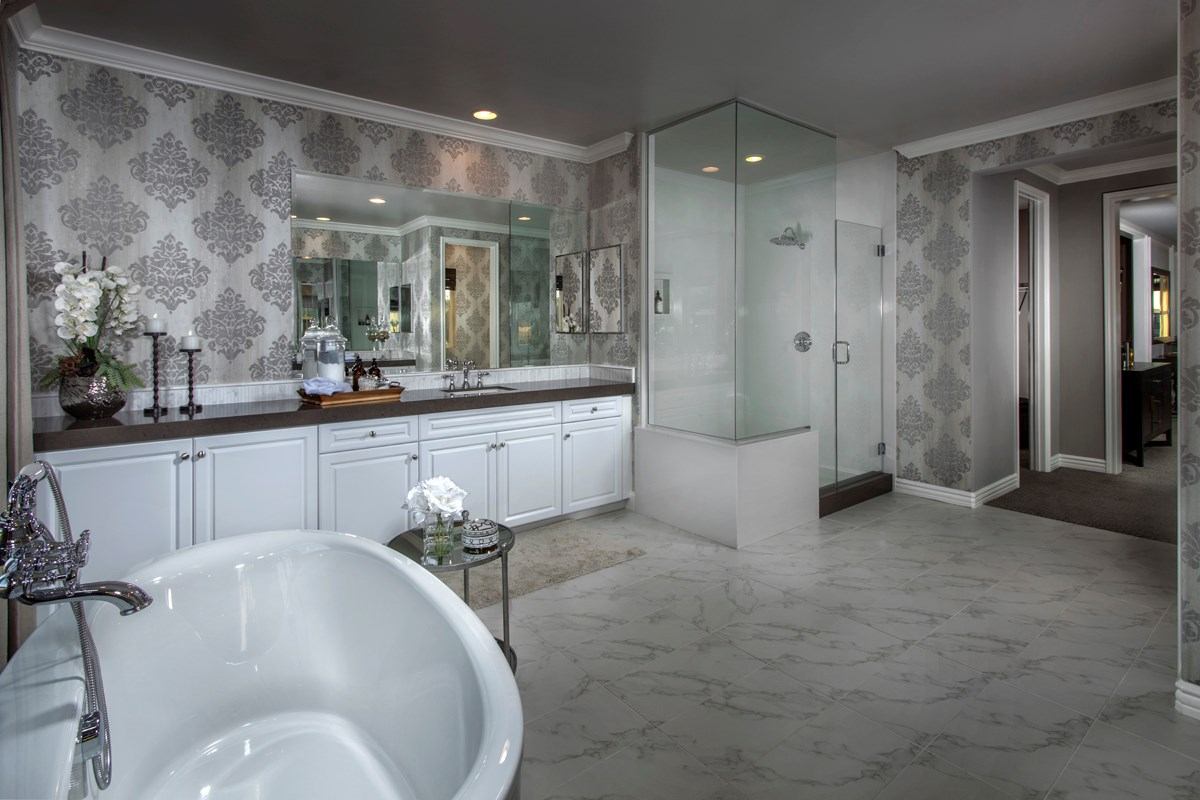 New Homes in Rancho Cucamonga, CA - La Ventana Residence 4506 - Master Bathroom
