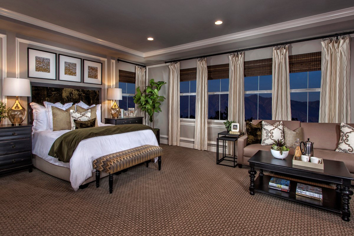 New Homes in Rancho Cucamonga, CA - La Ventana Residence 4506 - Master Bedroom