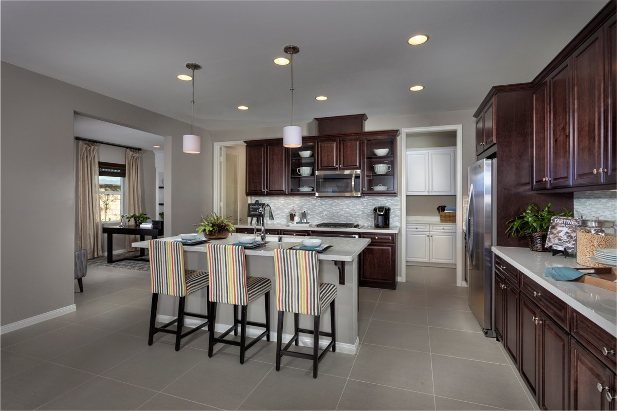 New Homes in Ontario Ranch, CA - Margate at Park Place Residence One - Kitchen