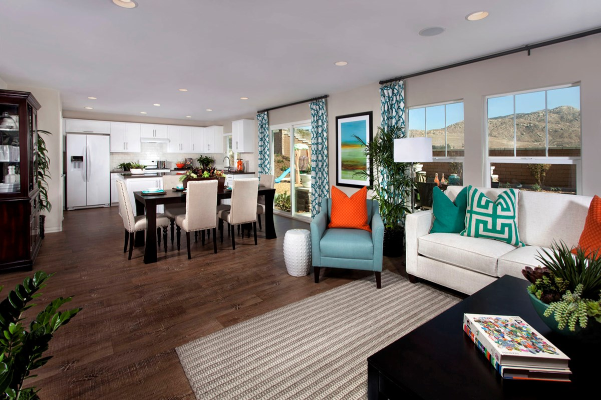 New Homes in Riverside, CA - Mission Gate at Spring Mountain Ranch Residence Four Great Room