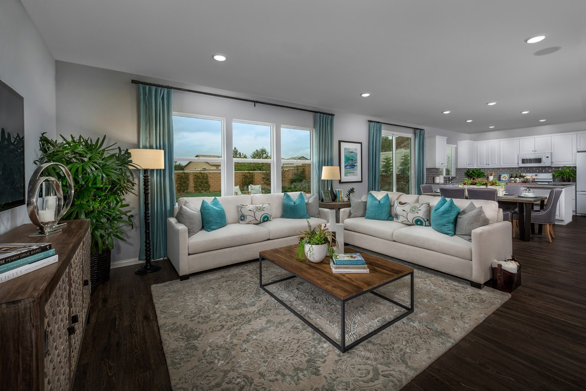 New Homes in Riverside, CA - Monterey at Spring Mountain Ranch Residence Five - Great Room