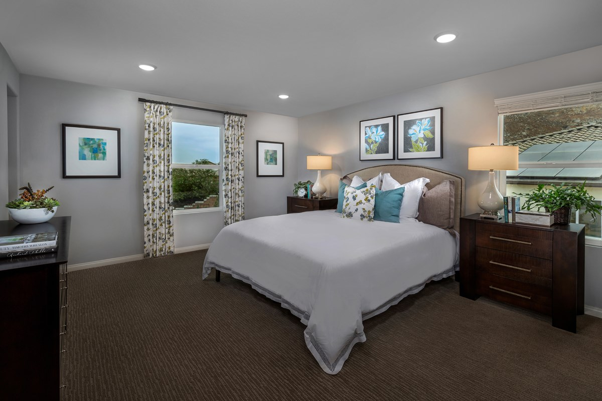 New Homes in Riverside, CA - Monterey at Spring Mountain Ranch Residence Five - Master Bedroom