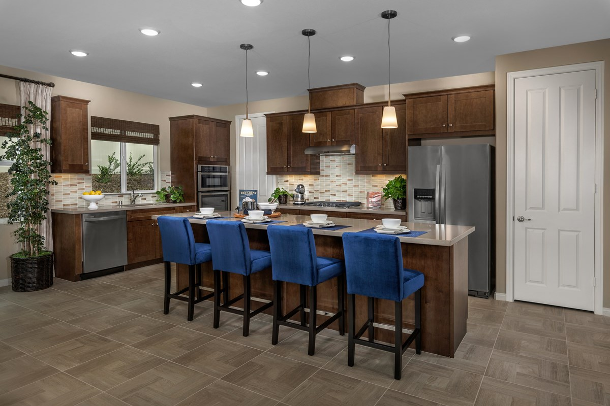 New Homes in Riverside, CA - Monterey at Spring Mountain Ranch Residence Six - Kitchen