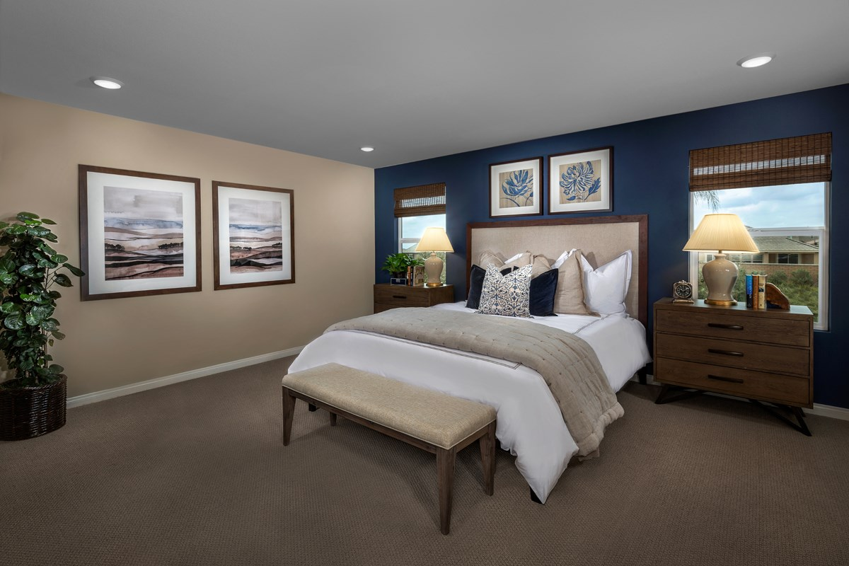 New Homes in Riverside, CA - Monterey at Spring Mountain Ranch Residence Six - Master Bedroom