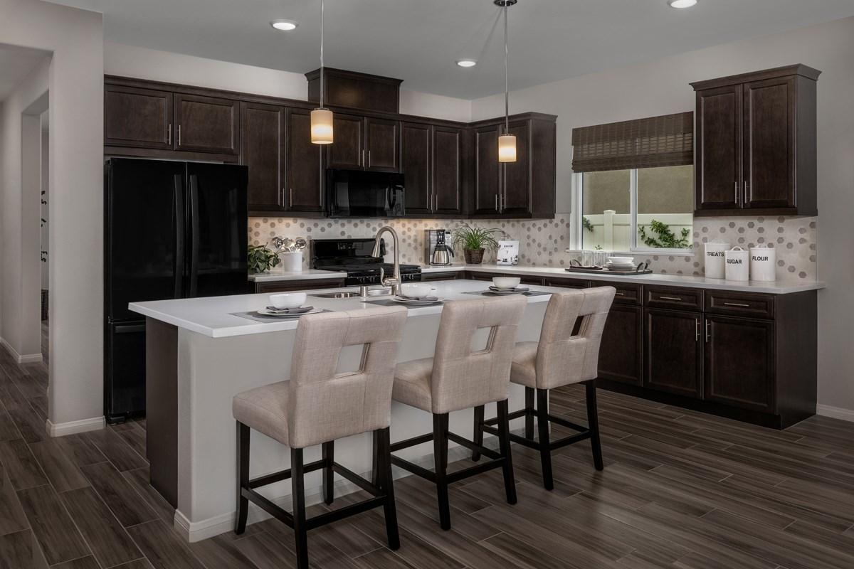 New Homes in Riverside, CA - Monterey at Spring Mountain Ranch Residence Three - Kitchen