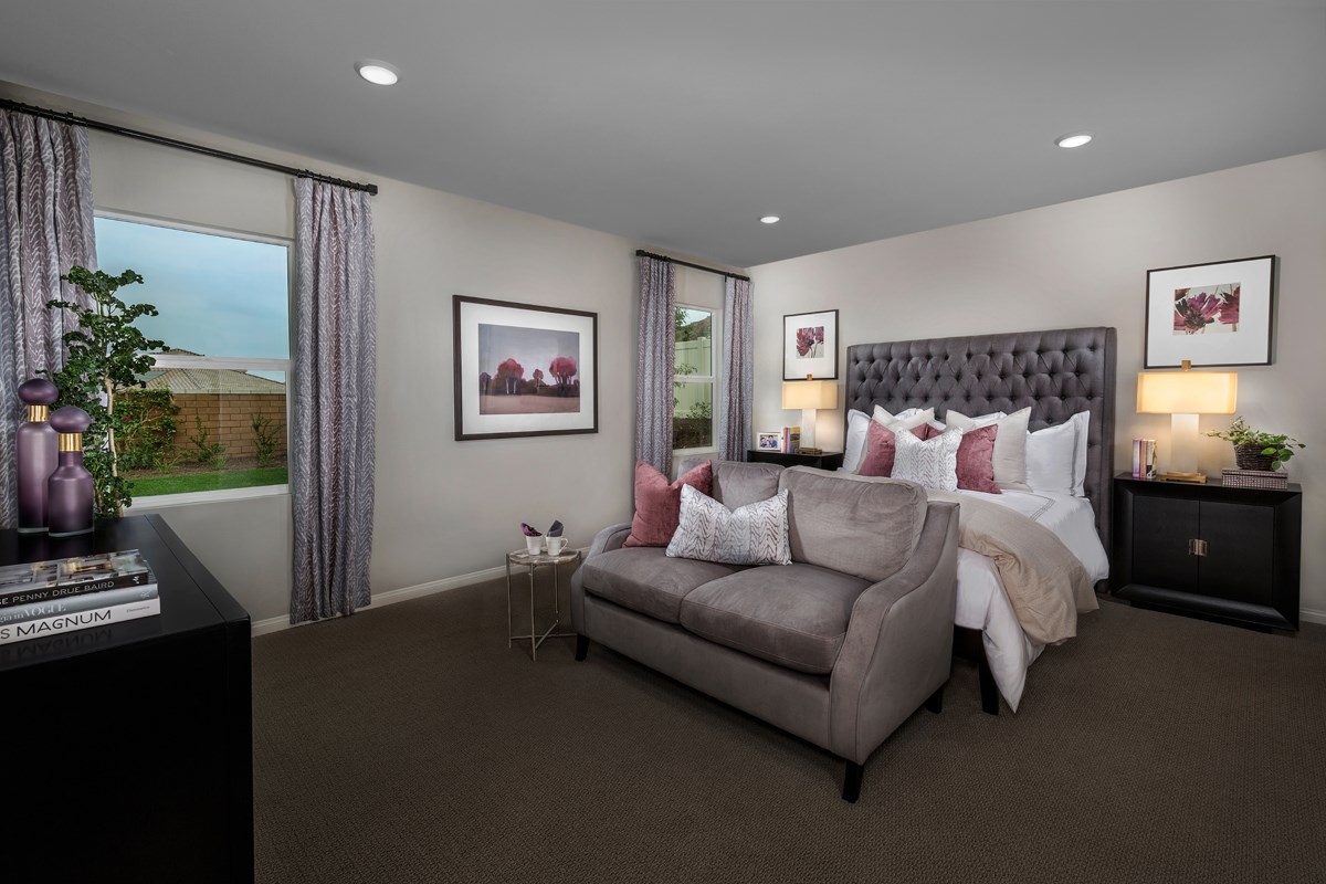 New Homes in Riverside, CA - Monterey at Spring Mountain Ranch Residence Three - Master Bedroom