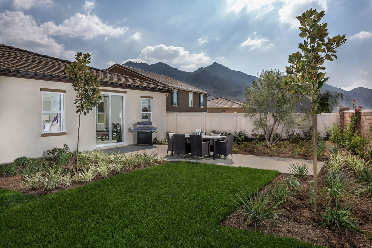 New Homes in Riverside, CA - Monterey at Spring Mountain Ranch Residence Three - Patio