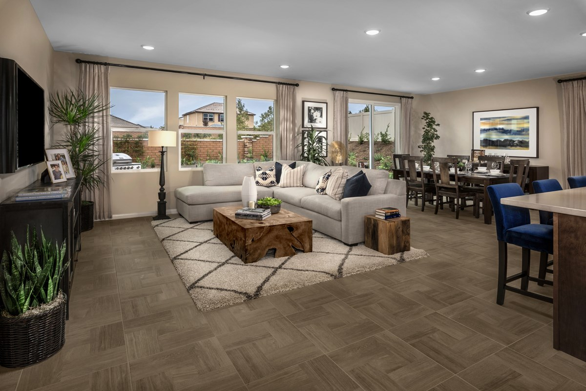 New Homes in Riverside, CA - Monterey at Spring Mountain Ranch Residence Six - Great Room