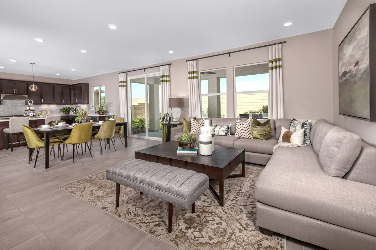 New Homes in Ontario Ranch, CA - Northpark Residence 2403 - Great Room