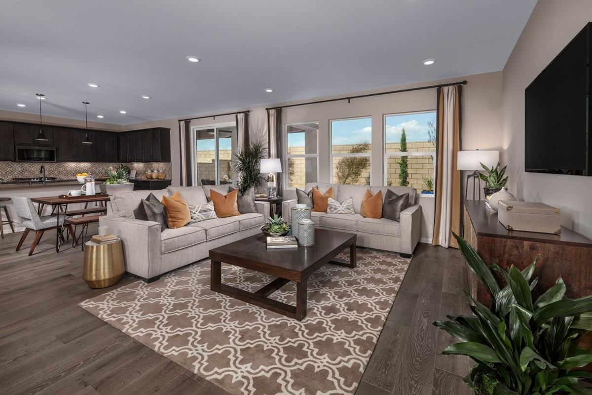 New Homes in Ontario Ranch, CA - Northpark Residence 2886 - Great Room
