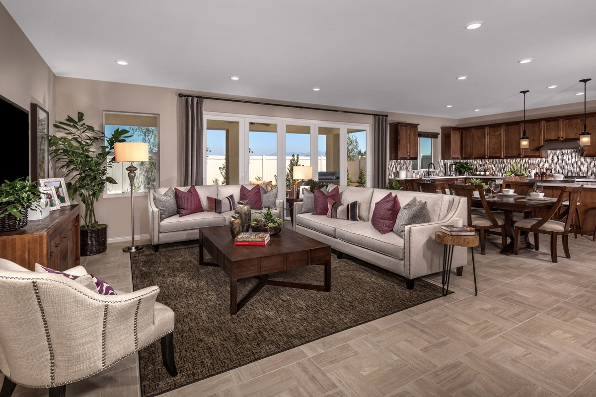 New Homes in Menifee, CA - Peppertree at Hidden Hills Residence 2329 - Great Room