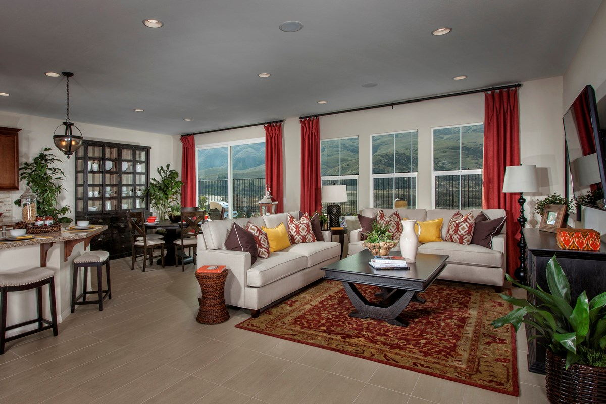 New Homes in Riverside, CA - Presidio Point at Spring Mountain Ranch Residence Two Great Room
