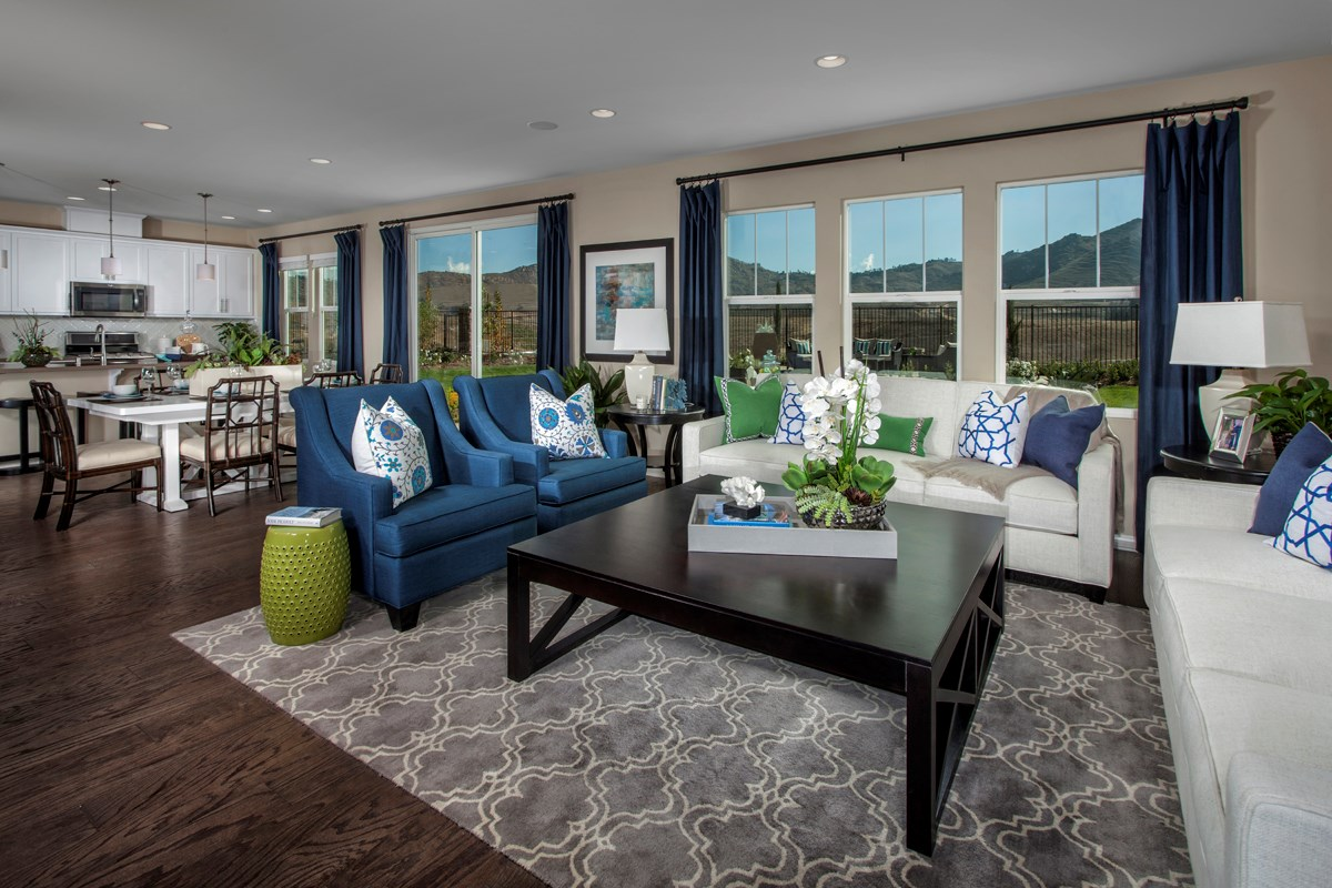 New Homes in Riverside, CA - Presidio Point at Spring Mountain Ranch Residence Three Great Room