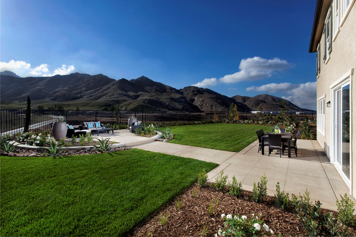 New Homes in Riverside, CA - Presidio Point at Spring Mountain Ranch Residence Three Patio