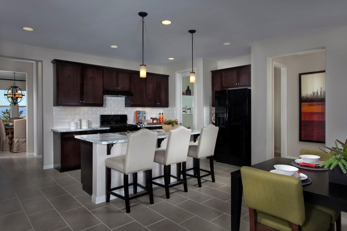 New Homes in Riverside, CA - Presidio Point at Spring Mountain Ranch Residence Four Kitchen