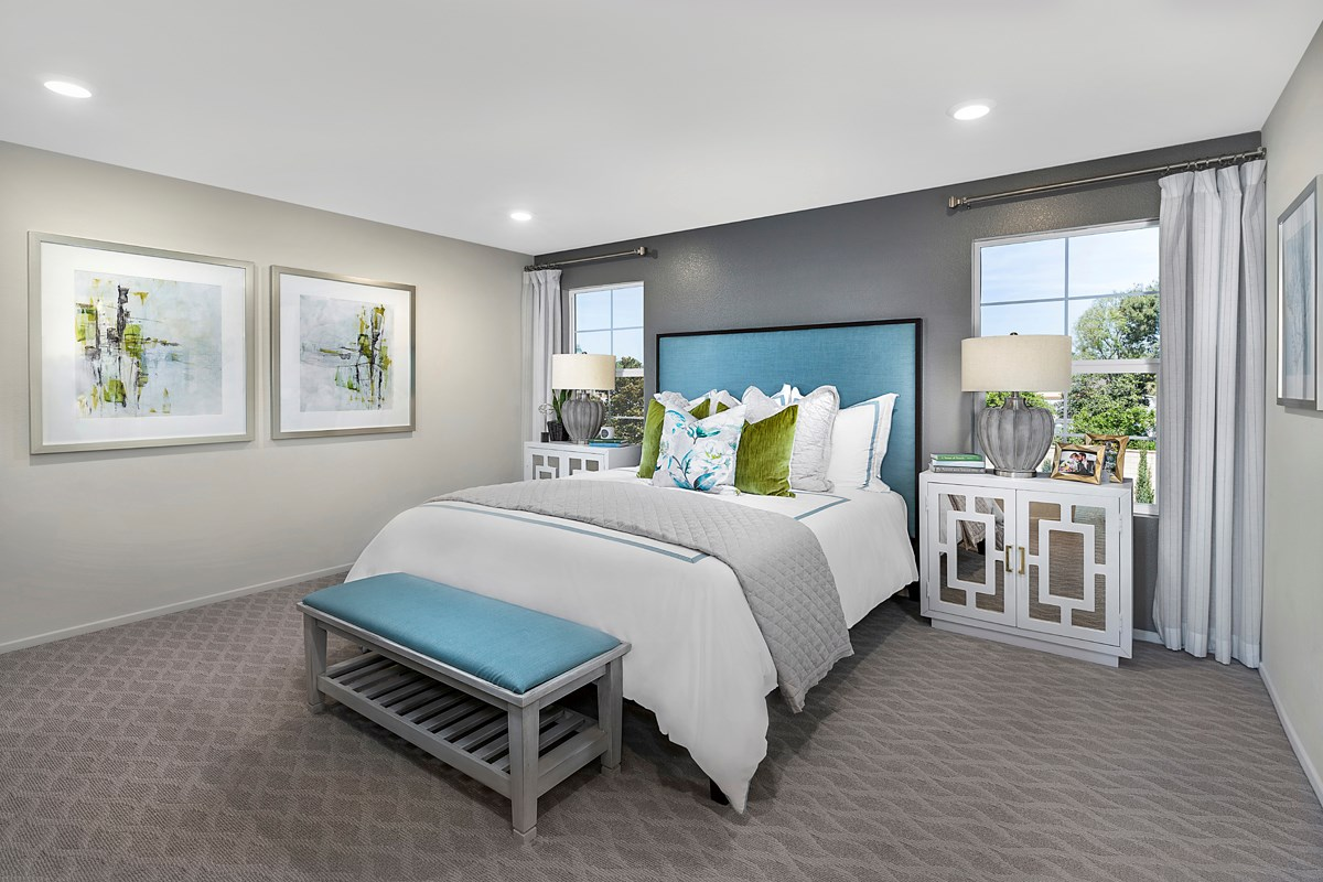New Homes in Riverside, CA - Primrose Residence Two - Master Bedroom