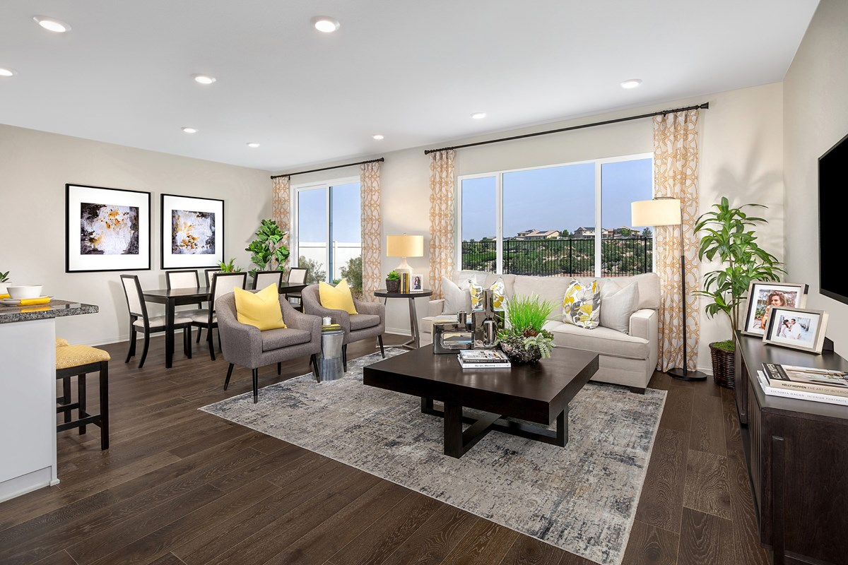 New Homes in Riverside, CA - Santa Barbara at Spring Mountain Ranch Residence Nine - Great Room