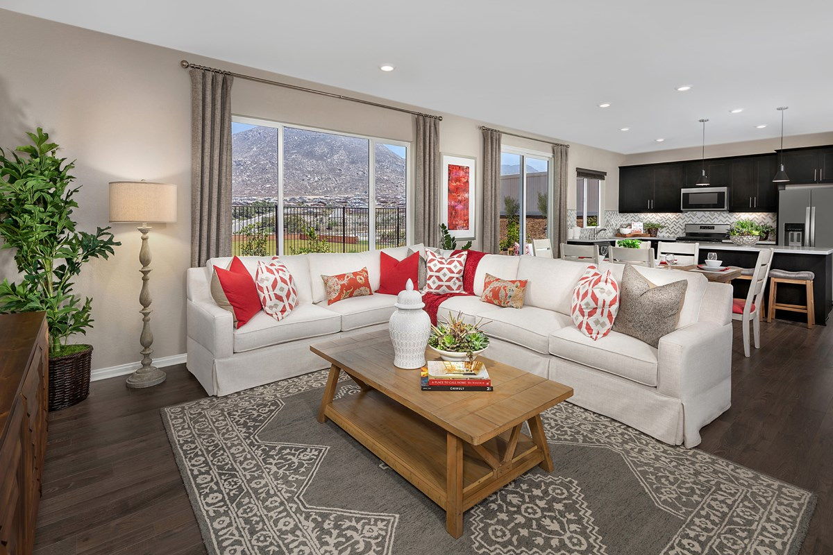 New Homes in Riverside, CA - Santa Barbara at Spring Mountain Ranch Residence Eleven - Great Room