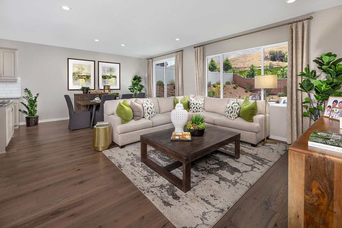 New Homes in Riverside, CA - Santa Barbara at Spring Mountain Ranch Residence Sixteen - Great Room