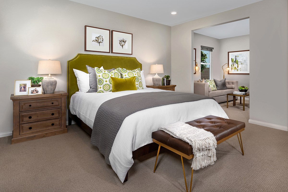 New Homes in Riverside, CA - Santa Barbara at Spring Mountain Ranch Residence Sixteen - Master Bedroom