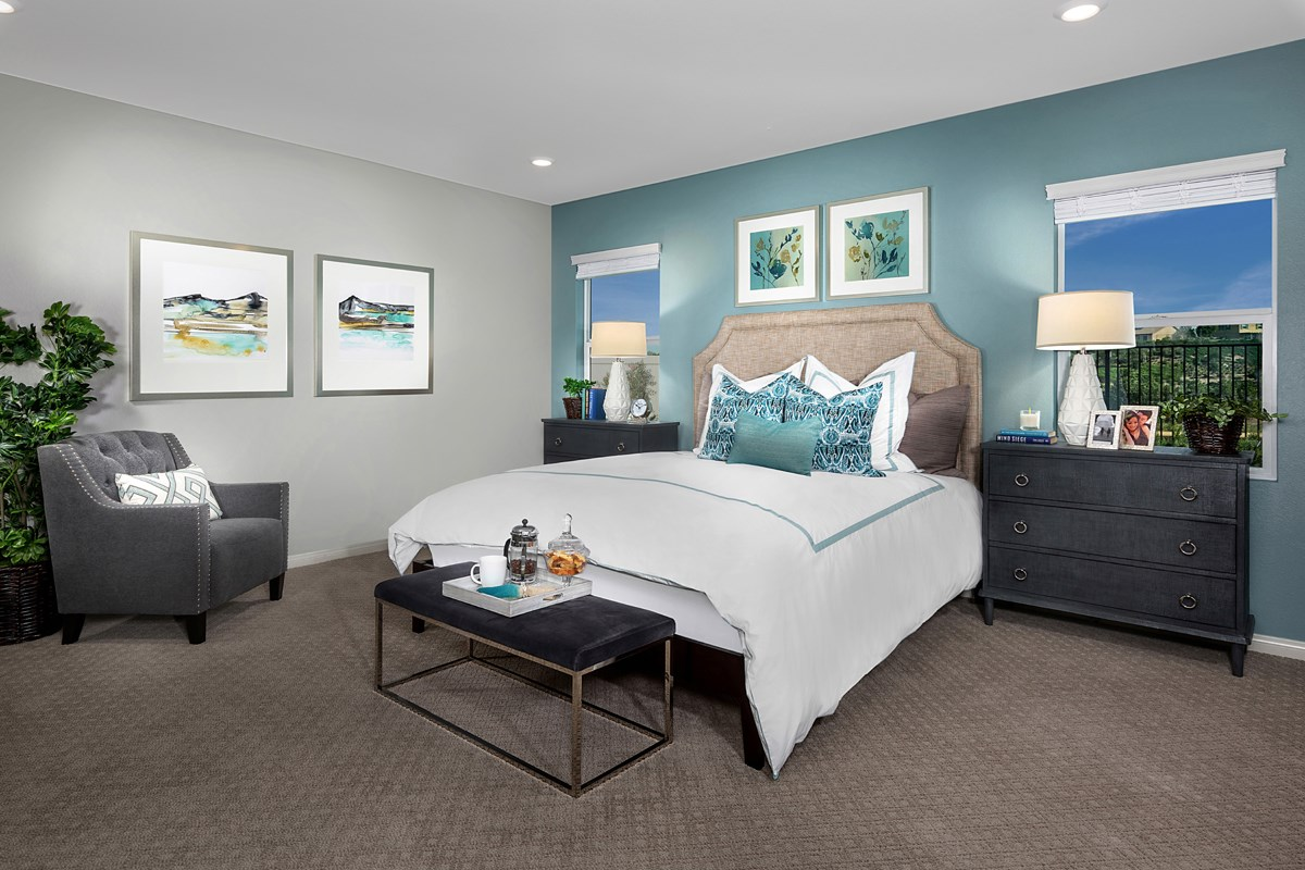 New Homes in Riverside, CA - Santa Barbara at Spring Mountain Ranch Residence Thirteen - Master Bedroom