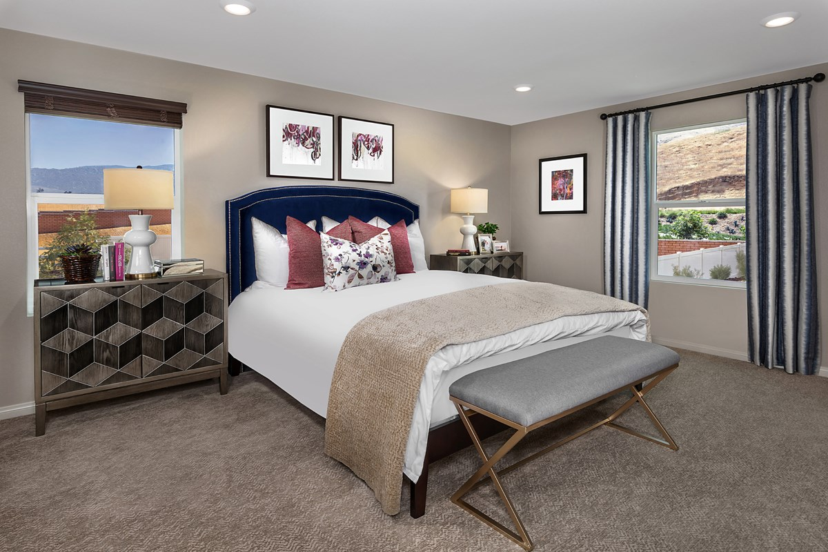 New Homes in Riverside, CA - Santa Barbara at Spring Mountain Ranch Residence Fourteen - Master Bedroom